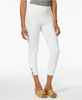 Style&Co. Style & Co Lattice-Hem Tummy Comfort Capri Leggings, Only at Macy's