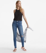 LOFT Lou & Grey Destructed Skinny Jeans