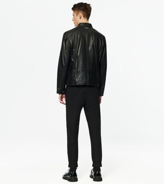 Andrew Marc Wendell Racer Leather Jacket