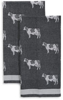 Distinctly Home Set of Two Cow-Print Tea Towels