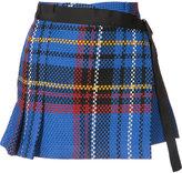 Sacai woven check skort - women - Cotton/Cupro - 1