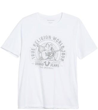 True Religion Scribble Buddha Crew Neck T-Shirt