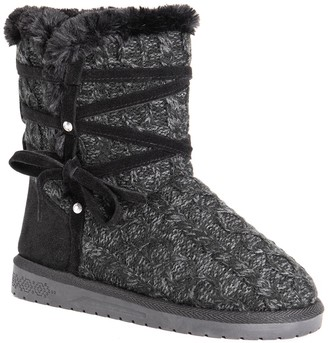 Muk Luks Camila Knit Faux Fur Lined Boot