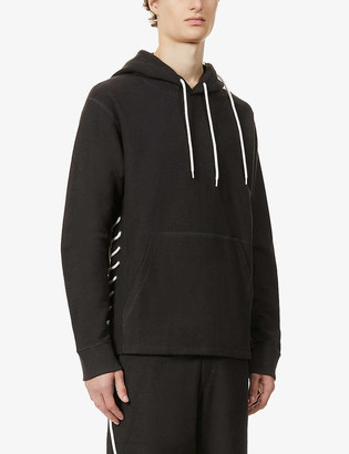 Craig Green Laced dropped-shoulder cotton hoody