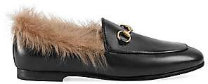 Gucci Women's Jordaan Fur Loafers