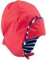 Jo-Jo JoJo Maman Bebe Fleece Lined Tie Hat (Baby) - Red-0-12 Months