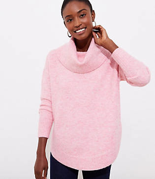 LOFT Petite Cowl Neck Poncho Sweater