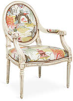 One Kings Lane Darcy Armchair - Coral Neo-Toile