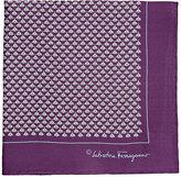 Salvatore Ferragamo Men's Bird-&-Insect-Print Silk Pocket Square