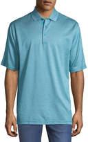Bugatchi Heathered Cotton Polo Shirt