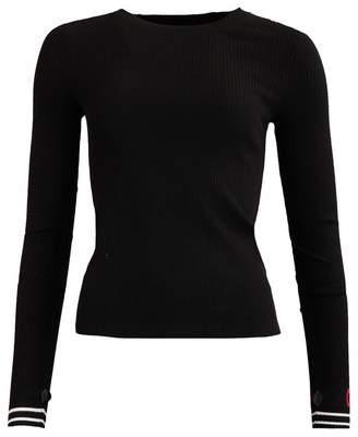 HUGO Sloggy Arm Logo Rib Knit Colour: BLACK, Size: LARGE