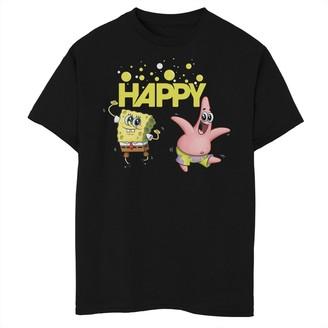 SpongeBob Squarepants Licensed Character Boys 8-20 Patrick Happy Short Sleeve Tee