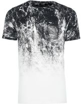 River Island MensWhite faded glitch print muscle fit T-shirt