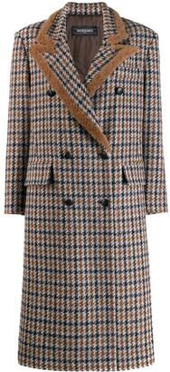 Simonetta Ravizza Paula double breasted coat with shearling piping