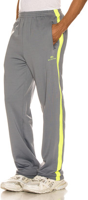 Balenciaga Tracksuit Pants in Grey & Fluo Yellow | FWRD