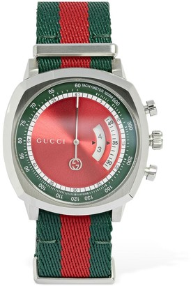Gucci 40mm Grip Web Motif Watch