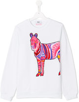 MSGM beaded horse sweatshirt - kids - Cotton - 14 yrs