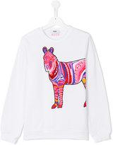 MSGM beaded horse sweatshirt
