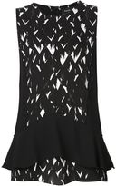 Proenza Schouler abstract print peplum top - women - Silk/Acetate/Viscose - 2