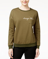 Pretty Rebellious Juniors' Always Late Graphic Sweatshirt
