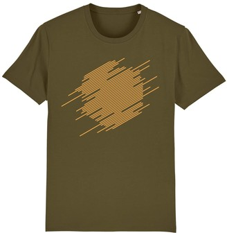 British Boxers Abstract Hexagon T-Shirt - Mustard On British Khaki