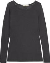 Halston Modal-blend jersey top