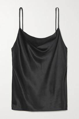 L'Agence Kay Draped Silk-satin Camisole