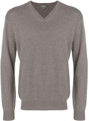 N.Peal Burlington V-neck 1ply sweater