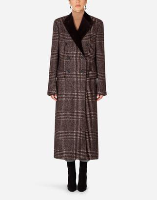 Dolce & Gabbana Double-Breasted Tartan Coat