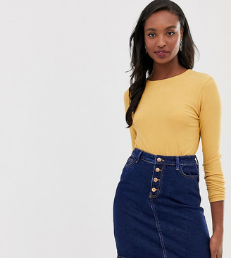 New Look Tall denim skirt in dark blue