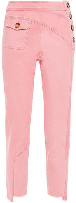 REJINA PYO Cropped Paneled High-rise Slim-leg Jeans