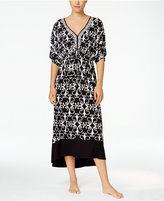 Ellen Tracy Printed High-Low Hem Caftan