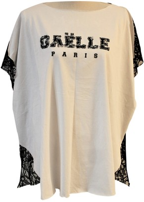 Gaelle Bonheur White Cotton Top for Women