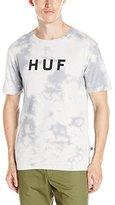 HUF Men's Bleach Wash Original Logo T-Shirt
