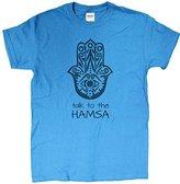 """Gildan Men's """"Talk To The Hamsa"""" Funny T-Shirt"""