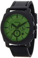 Fossil Men&s Stainless Steel Leather Strap Watch