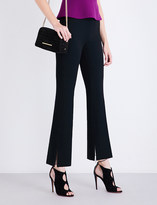 Roland Mouret Goswell high-rise flared crepe trousers
