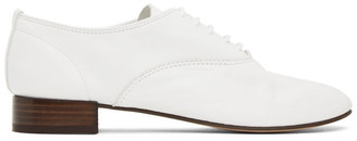 Repetto White Lambskin Zizi Oxfords