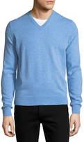 Neiman Marcus Cloud Cashmere V-Neck Sweater