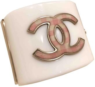 Chanel CC White Crystal Bracelets