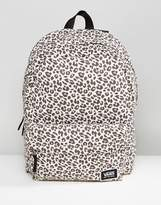 Vans Realm Classic Backpack In Leopard Print