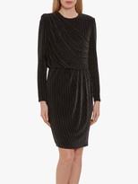Gina Bacconi Raya Stripe Dress, Black