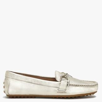 Lauren By Ralph Lauren Briley II Gold Leather Loafers