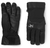 Arc'teryx Sabre Leather-trimmed Gore-tex Ski Gloves - Black