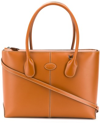 Tod's contrast-stitch top-handle tote bag