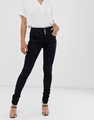 B.young button front skinny jeans