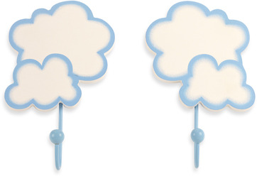 NoJo Clouds 2-Pack Decorative Wall Hooks