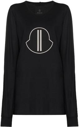 Moncler + Rick Owens long-sleeve logo print T-shirt