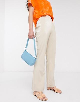 Hosbjerg straight leg trousers in iridescent slinky fabric