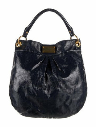 Marc by Marc Jacobs Patent Leather Shoulder Bag Blue